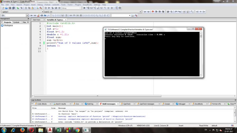 What is the value of % in my code (I am a beginer)-error-jpg